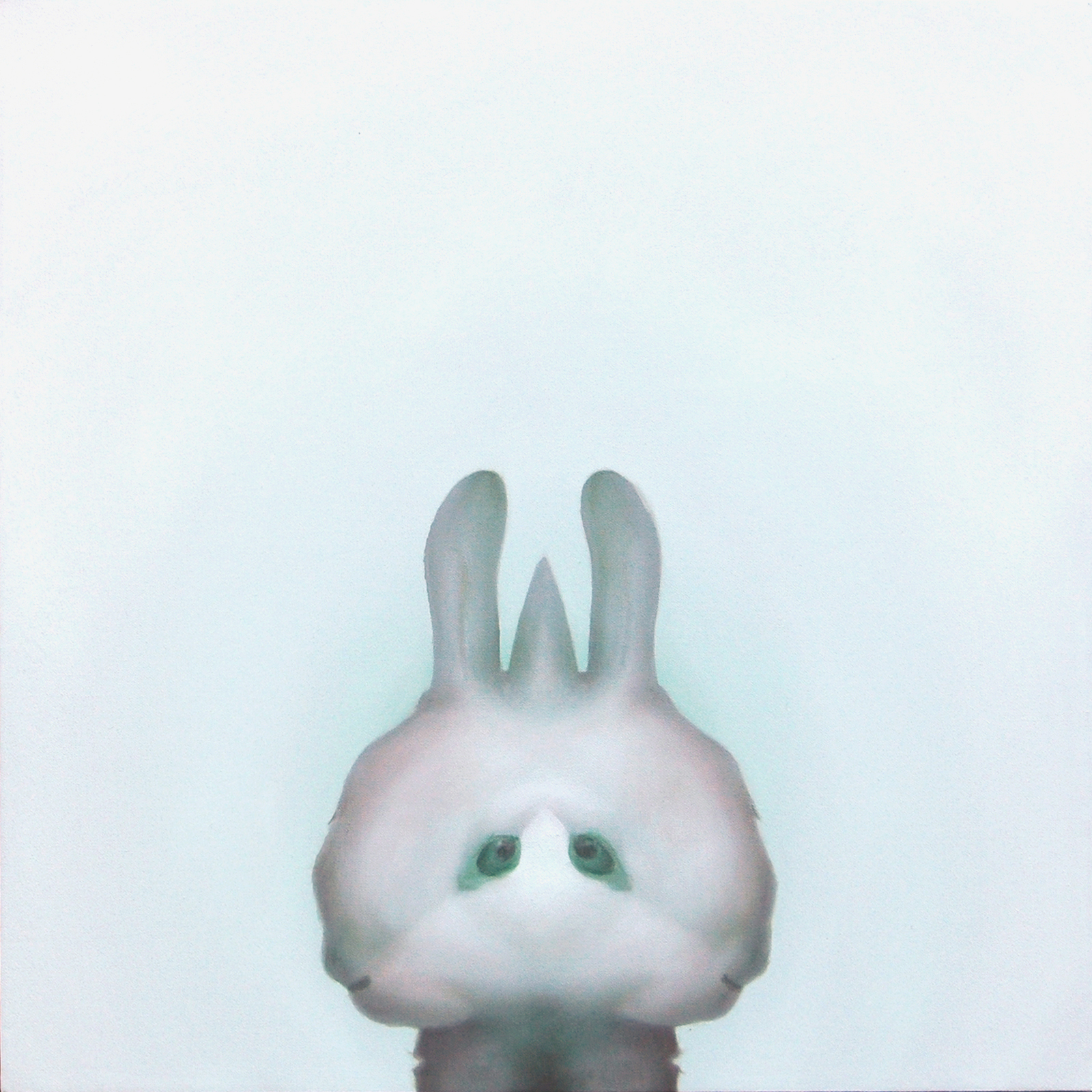 2010 もこもこ(white rabbit) 530×530㎜2