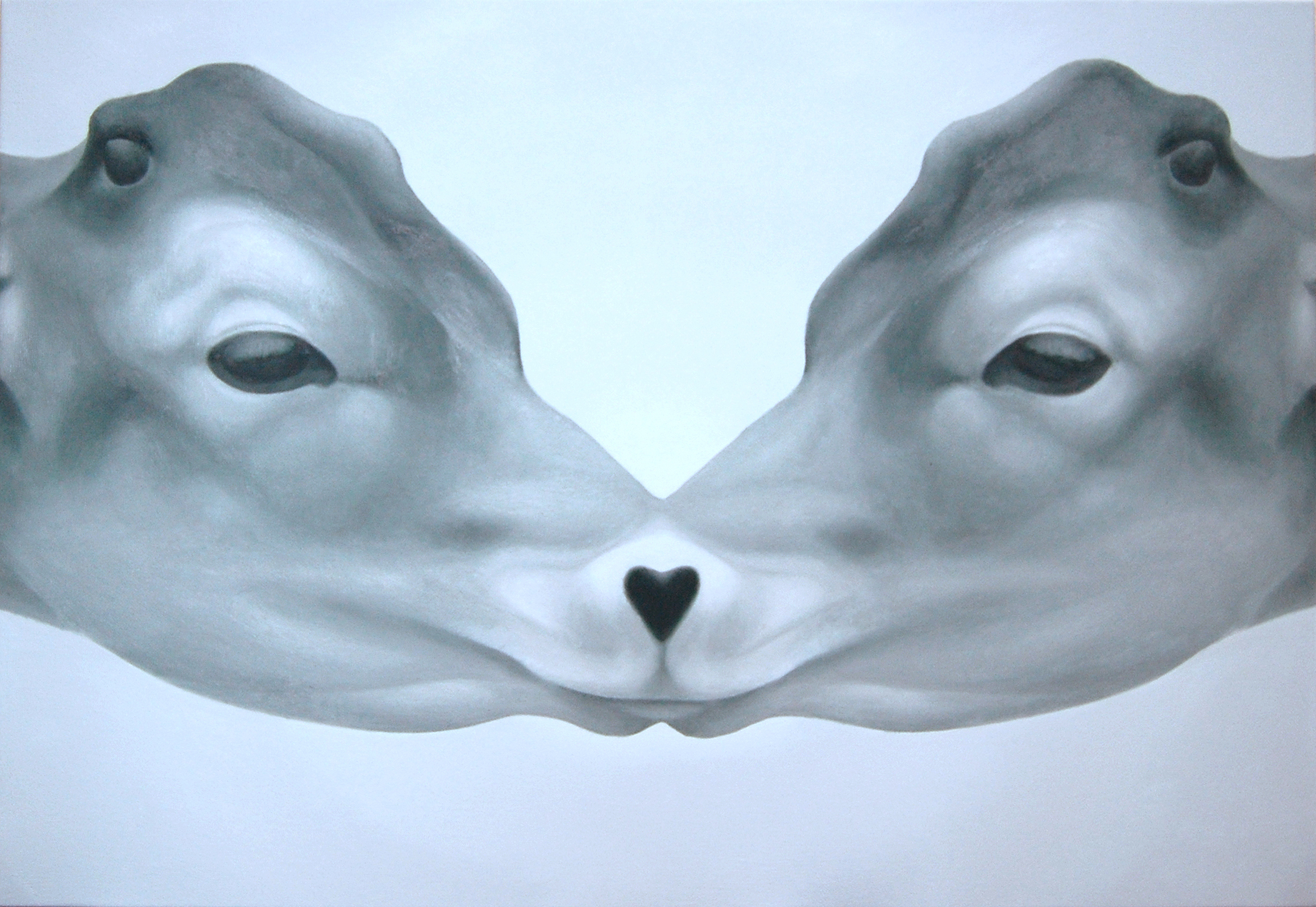 2009 kissing(cow) 530×727㎜