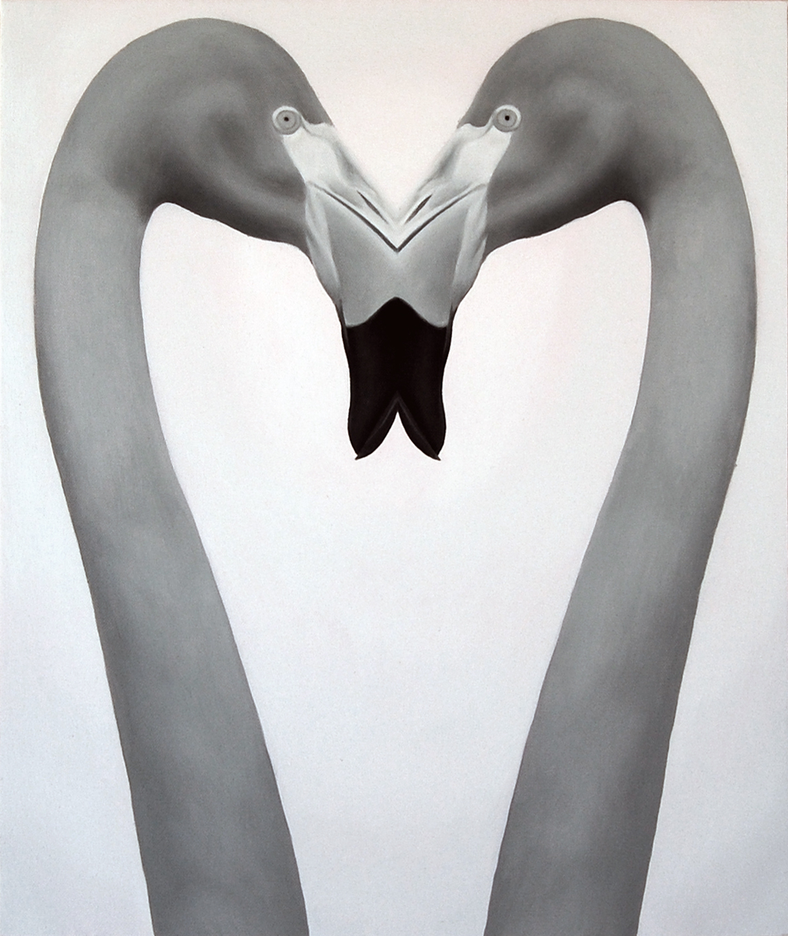2009 kissing(flamingo) 380×455㎜