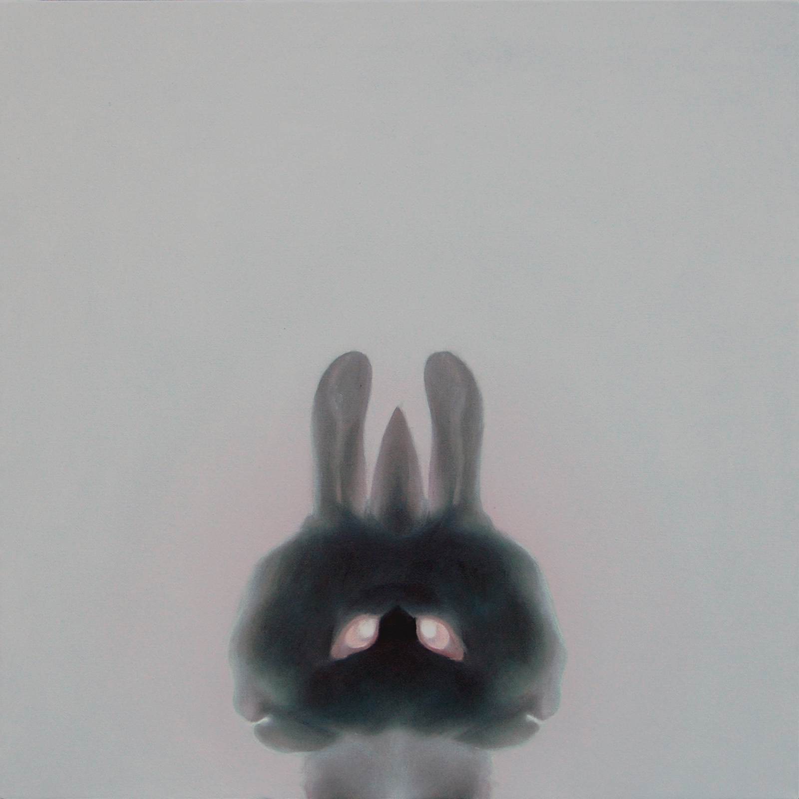 2010 もこもこ(black rabbit) 530×530㎜